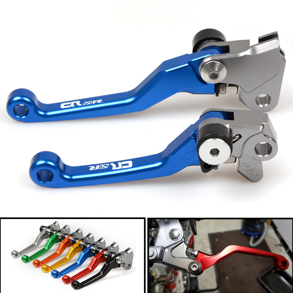 Clutch Lever 1 Pair of Motorcycle Adjustable Folding Brake Clutch Levers for Honda CR100 CR250 XR250.