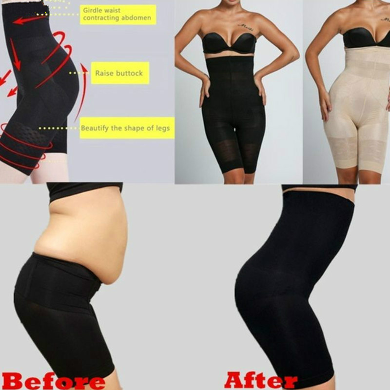 <font><b>Sexy</b></font> Women Beauty Slimming Shapewear <font><b>Fat</b></font> Burning Shape Bodysuit Pants Slimming Wraps High Waist Face Slimming Pants Shapewear image