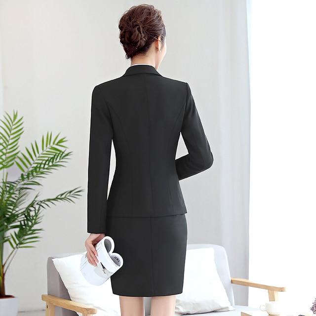 High Quality Women Blazer Long Sleeve Polyester Coats Feminine Office Clothes Elegant Temperament Solid Formal Blazer For Women 5