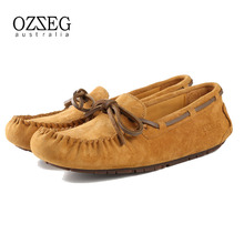 100% Real leather Women flats shoes Women casual shoes loafers moccasins Slip on, driving walking ballet, free shipping