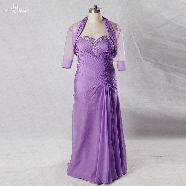bde0c025c0fd9 RSE746 Lilás Vestido De Madrinha Plus Size Mãe Dos Vestidos de Noiva Com  Vestidos de Jaqueta