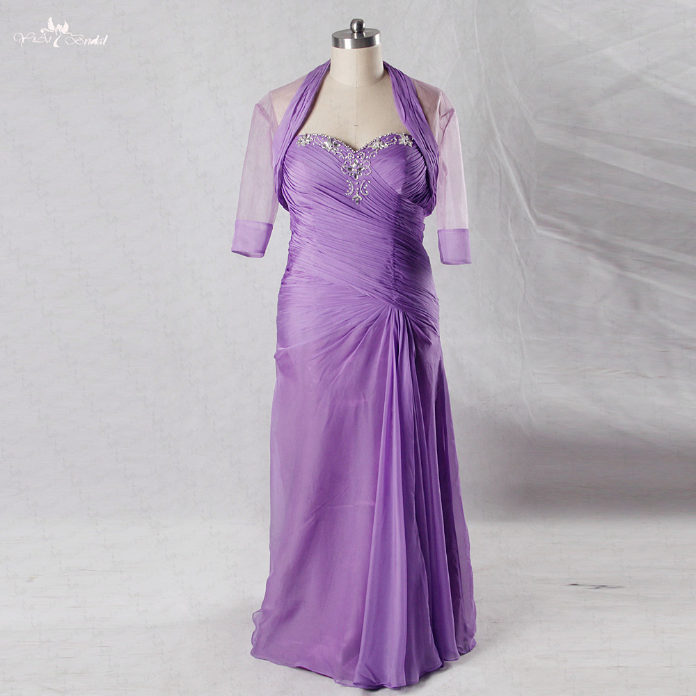 Plus Size Mother Bride Dresses: RSE746 Lilac Vestido De Madrinha Plus Size Mother Of The