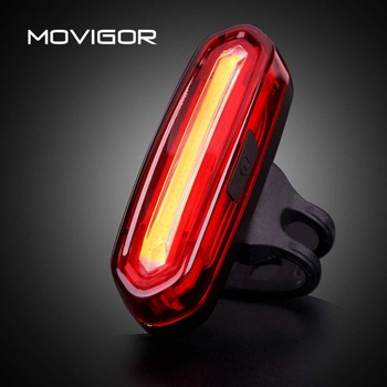 MOVIGOR 120 Lumens USB Recarregável Luz Traseira Da Bicicleta Lâmpada LED MTB Bicicleta de Estrada Luz de Aviso Noite Ciclismo Lanterna À Prova D' Água