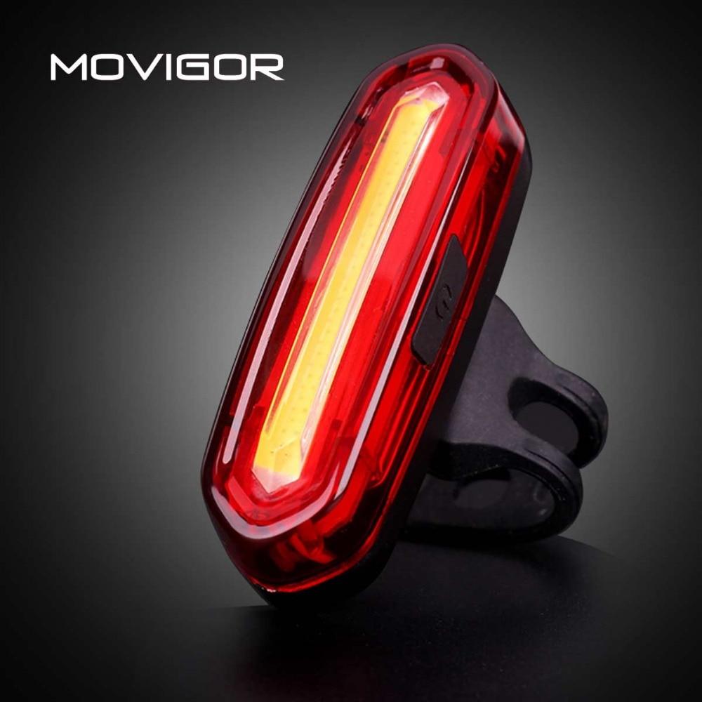 MOVIGOR 120 Lumens USB Rechargeable Bicycle Taillight LED Lamp Waterproof MTB Road Bike Light Night Warning Cycling Flashlight