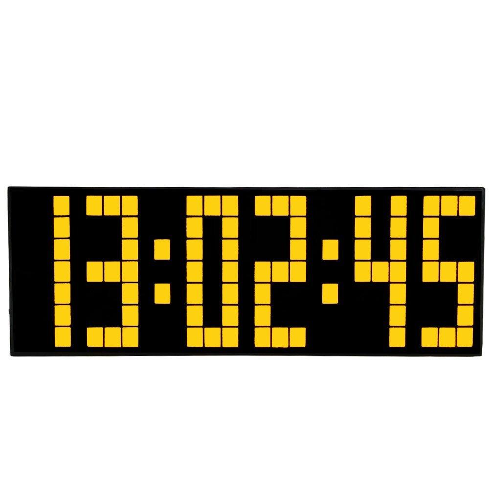 Цифровые большие цифровые Led часы повтора для спальни, будильник, настенные часы с календарем, подсветка, погодные часы, рождественский подарок|large digits|weather clockalarm clock snooze | АлиЭкспресс - Крутые будильники