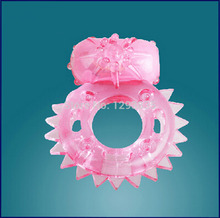 Pink Sex Dolls Clit Vibrating Cock Ring Stretchy Delay Penis Rings Great Sex Toy for Men Adult Sex Products 55.5*46.5mm