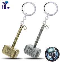 HEYu Movie Marvel Avengers Thor The Dark World Mjolnir Thor Hammer Pewter Pendent Keychains Key Chain Key Rings Key Holder