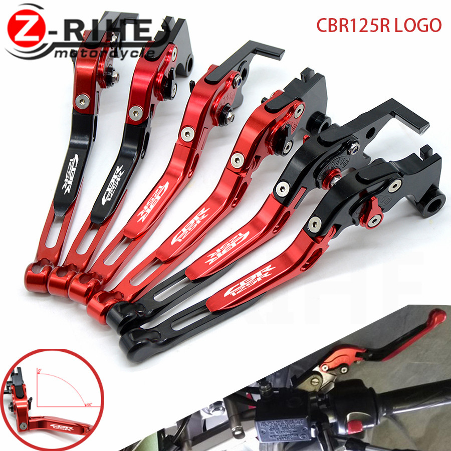 for CNC Adjustable Motorcycle Folding Extendable Brake Clutch Levers for honda cbr125r cbr 125r cbr 125 r 2011-2014 2012 2013