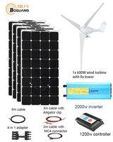 600 Вт ветровая турбина Вт 400 Вт Солнечная ветровая гибридная Солнечная система DIY комплект солнечная панель домашний дом Модуль Мобильный dc