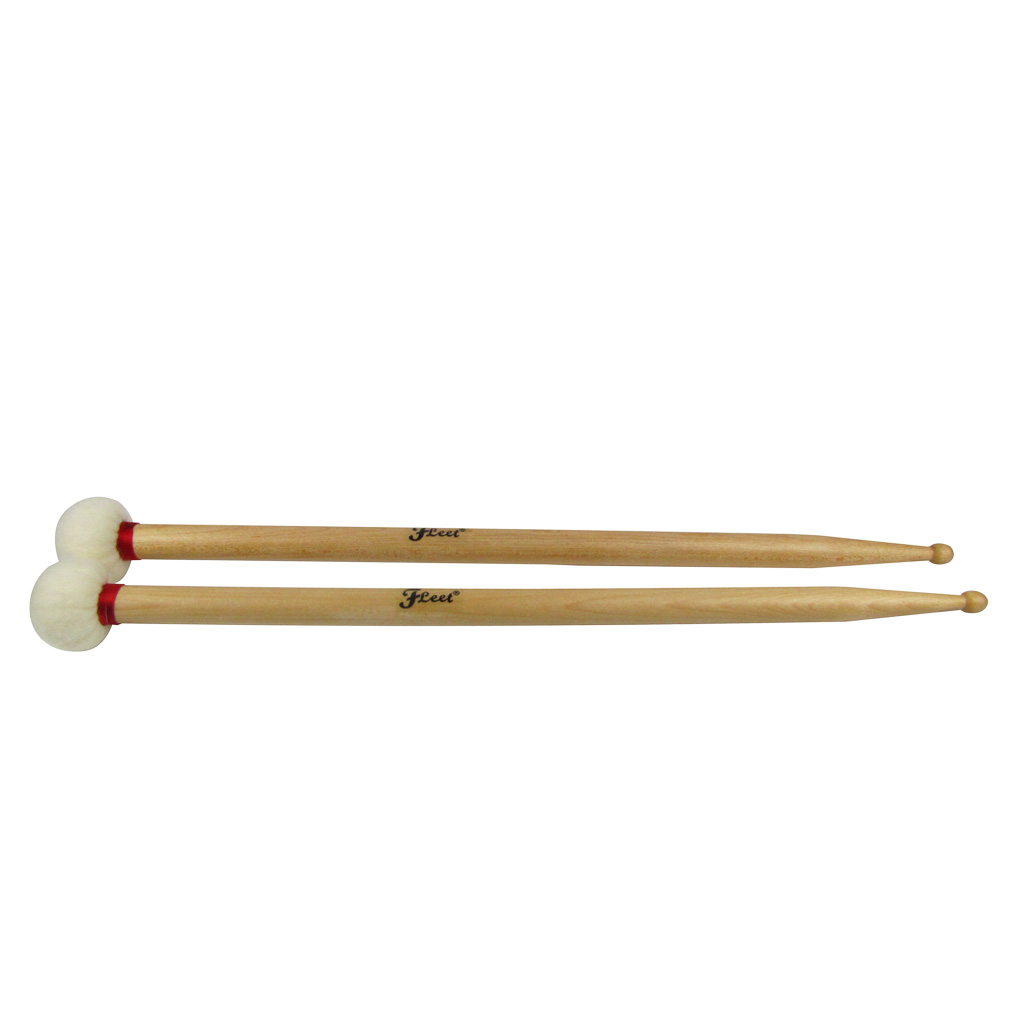 1 Pair Soft Felt Head And 5B Head For Ride Cymbal Duplex Gong Mallet Drum Sticks Double End Perfect Weight And Balance