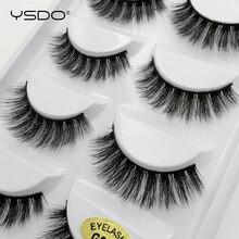 Mink-Eyelashes Natural-Hair G600 Thick Dramatic 5-Pairs 3D