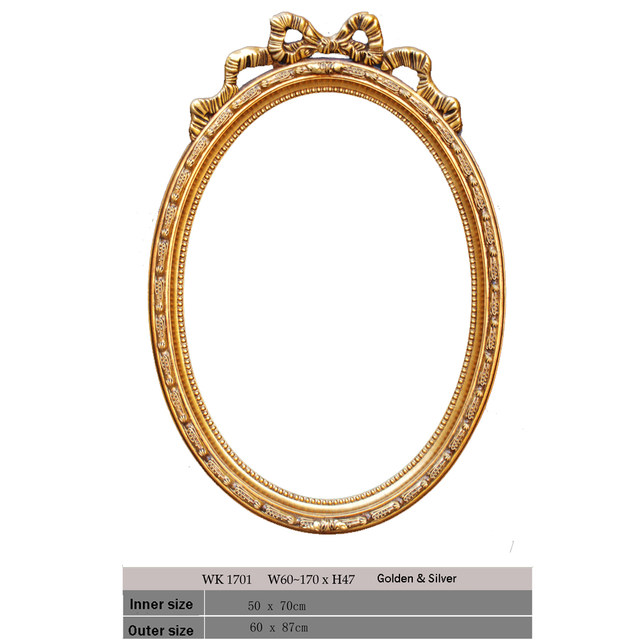 Online Shop Modern Ready-made oval mirror frame for bathroom ...