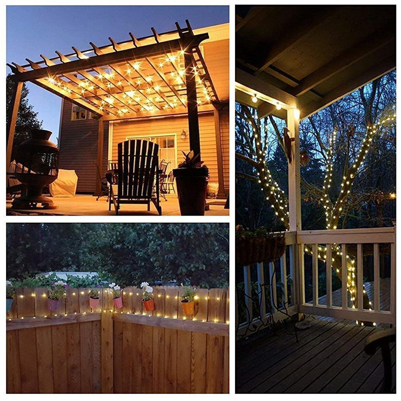 Led String Lights 1M 10leds CR2032 Battery Operated Copper Wire Fairy Lights for Christmas Garland Home Wedding Decoration in LED String from Lights Lighting