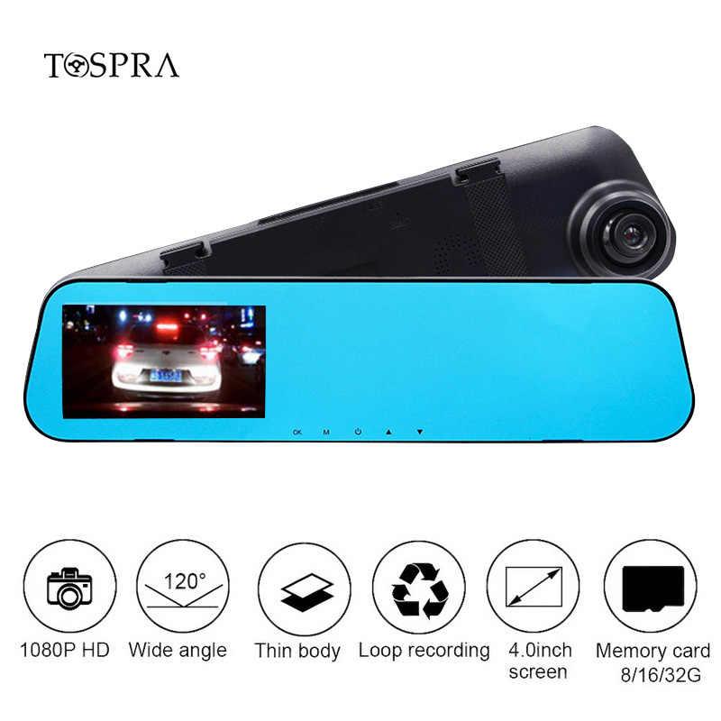 TOSPRA 4,0 дюймов Full HD 1080P Автомобильный видеорегистратор Камера заднего вида с одним записывающим прибором Авто регистраторы ночного видения