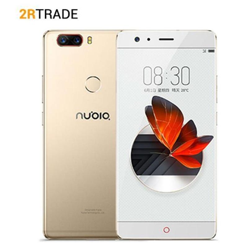 D'origine ZTE Nubia Z17 Sans Frontières 6 GB RAM 64 GB ROM Android 7.1 Snapdragon 835 Octa Core 5.5 pouce Double SIM 23.0MP Cellulaire Téléphone