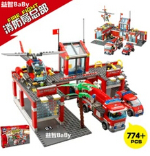 New Classic Kazi 8051 City Fire Station 774pcs/set Building Blocks Educational Bricks Kids Toys Gifts city brinquedos Xmas toy lepin 631pcs city police station kazi 6725 building blocks action figure baby toys children building bricks brinquedos kid gift