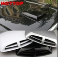 Universal Auto Car Decorative Air Flow Intake Scoop Turbo Bonnet Vent Cover Hood Car Styling Stickers D20 Silver White Black