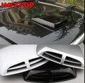 Universal auto car decorativa intake air flow colher turbo bonnet ventilação capô tampa estilo do carro adesivos d20 branco de prata preto