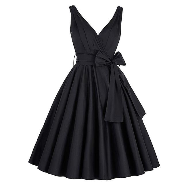 84a12b24a755d Black Pink Tunic Retro Vintage 1950s 60s Dresses Womens Rockabilly Dress  Pin up Vestidos Audrey Hepburn Sexy Party Swing Dresses