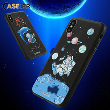 CASEIER 3D Space Case For iPhone 5s Capa Patterned Cover For iPhone 5 6 6s 7 8 Plus 5S SE Luxury 2018 Ultra Thin Back Coque Bag protective 3d celestial bodies patterned plastic back case cover for iphone 6 blue black