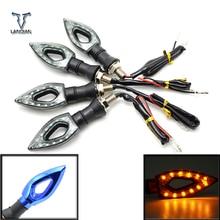 Para BMW R1200ST S1000 S1000XR S1000 RR XR 1000XR Universal LED Motocicleta motobike Turn Signal Indicadores Luzes
