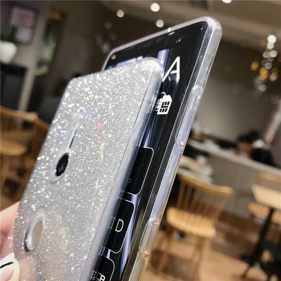 Per Sony XZ3 XZ XZ1 XZ2 XZ4 Compatto Carino Scintillio Gradiente Caso Molle di TPU Custodie Xperia X XA XA1 XA2 XA3 Ultra Copertura Del Telefono Custodie