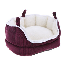 Cotton Hammock Cabin Hanging Bed Small Pet Blanket Mat Hammock Swing Bed House Cage for Squirrel Chinchilla Guinea Pig Rat(China)