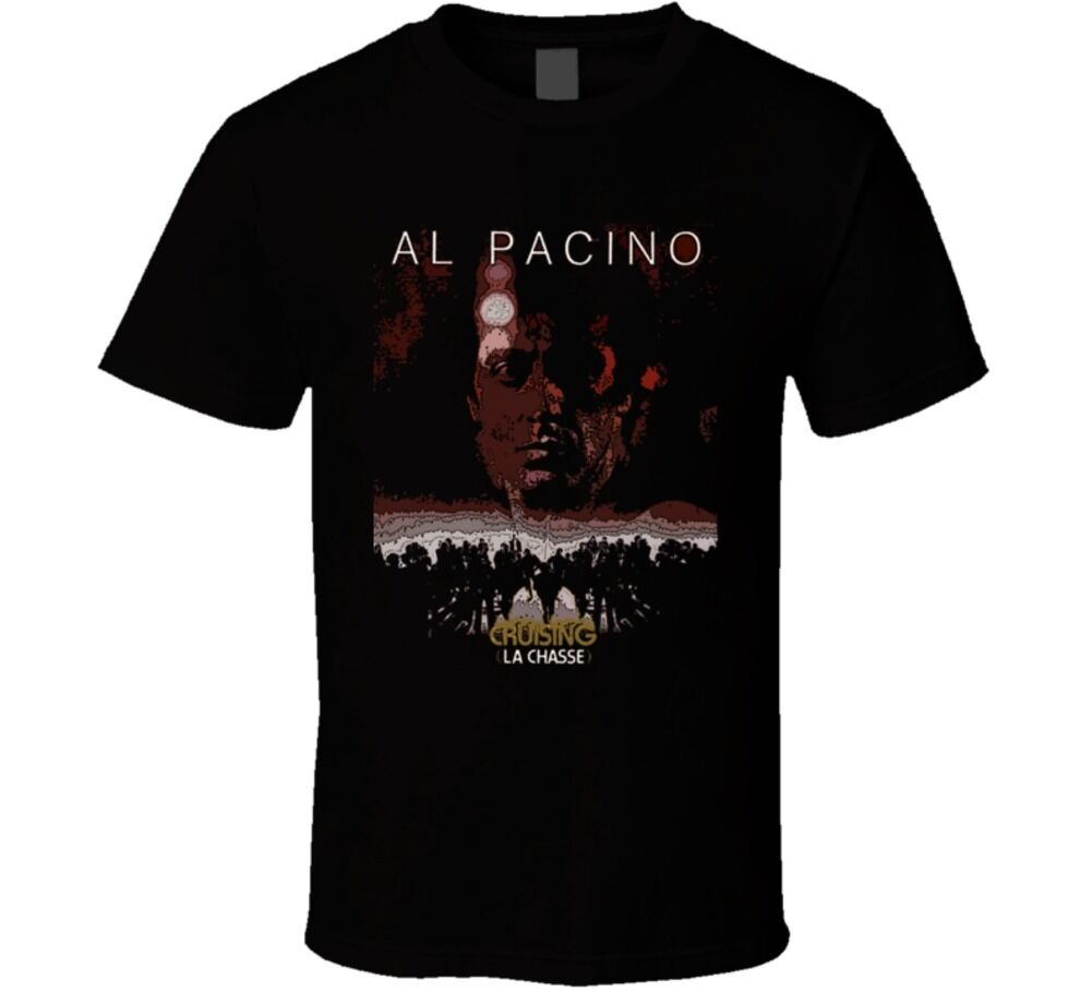 Cruising Al Pacino classic 80s s&m gay movie t shirt New Arrival Male Tees Casual Boy T-Shirt Tops Discounts image