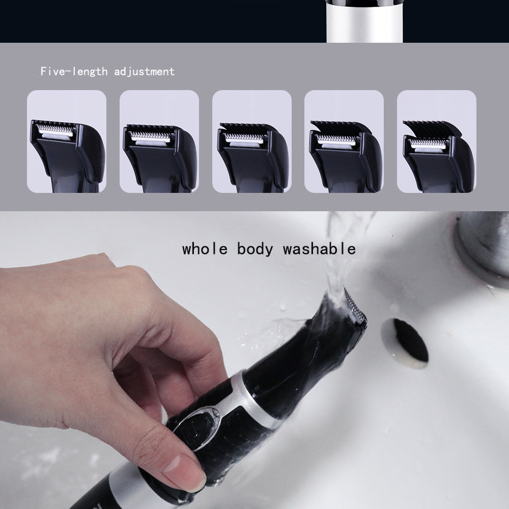 6 In1 Bikini Trimmer Precision Facial Hair Eyebrow Trimmer Lady Nose Ear Shaping Tool Hair Removal Female Shaving Machine (6)