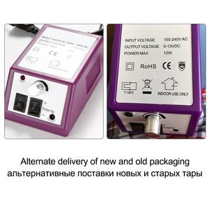 Image 5 - Elektryczna maszyna do Manicure pilnik do polerowania paznokci zestaw narzędzi wiertło do paznokci ceramiczne frezy do żel do Manicure lakier usuń