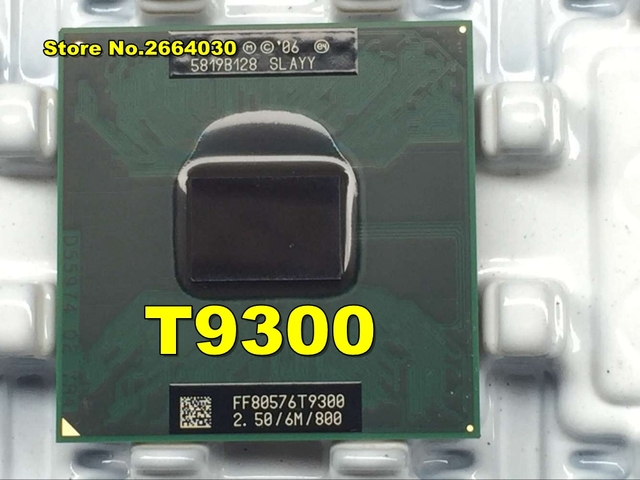 Intel Original Процессор Ноутбук Core 2 Duo T9300 Процессор 6 м Кэш/2.5 ГГц/800/Dual- core socket 479 ноутбук процессор для GM45 PM45
