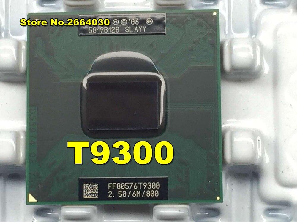 original intel CPU laptop Core 2 Duo T9300 CPU 6M Cache/2.5GHz/800/Dual-Core Socket 479Laptop processor for GM45 PM45