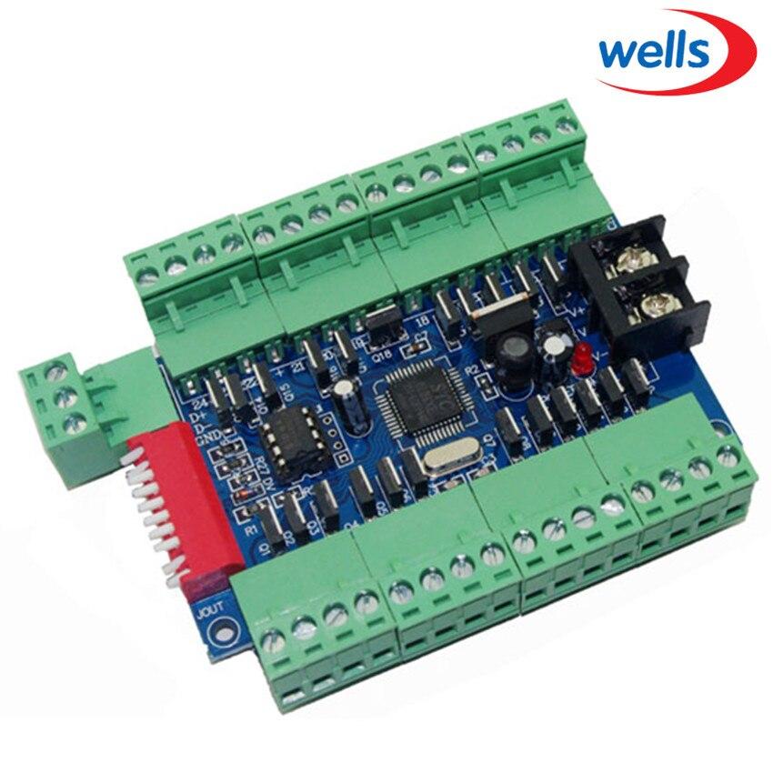 Deska regulátoru 24 CH dmx stmívače, 24 CH dmx 512 stmívače