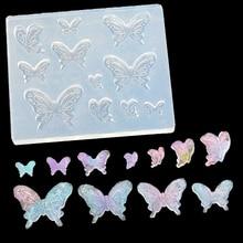 Мультфильм силиконовые формы DIY ювелирные изделия подвеска ожерелья в виде бабочки lanugo плесень смолы формы для ювелирных изделий