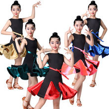 Latin Dance Dress for Girls Kids Dance Costume Cha Cha Dress Children Stage Dance Wear Salsa Dress Latin Competition Dress Pink