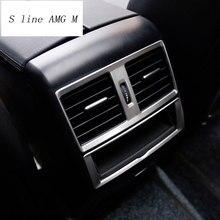 لمرسيدس بنز ML GL GLE W166 كوبيه C29 الخلفي تكييف الهواء تنفيس منفذ الإطار الكسوة ملصق يغطي الداخلية اكسسوارات السيارات