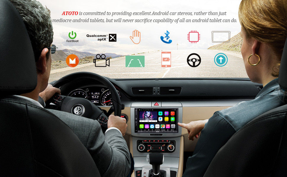 US $269 0 |[For Volkswagen/VW] ATOTO A6 Android Car Navigation GPS Stereo  2x Bluetooth aptX /Ultra Preamplifier Pro A6YVW721PRB Radio-in Car