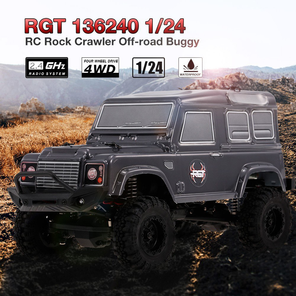 Remote control car toy RGT 136240 1/24 2.4G 4WD 15KM/H RC Rock Crawler Off road Buggy Car Kids Toy RTR Remote control buggy toys-in RC Cars from Toys & Hobbies