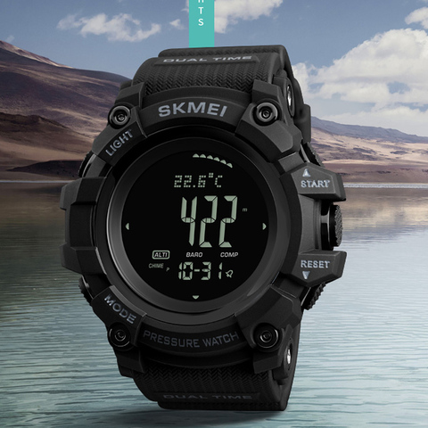 SKMEI 2019 Sports Mens Watch Hours Pedometer Calories Digital Watch Altimeter Barometer Compass Thermometer Weather Men Watch Karachi