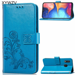 Image 1 - For Samsung Galaxy A20E Case Soft Silicone Filp Wallet Shockproof Phone Bag Case Card Holder Fundas Back Cover For Samsung A20e