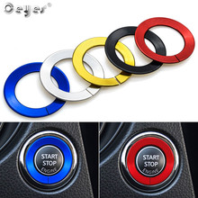 Ceyes Auto Engine Start Stop Ignition Decoration Ring Car Styling Fit For Nissan Qashqai Juke Lafesta Interior Cover Accessories