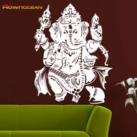 Cheap Sale Custom Color 57x72 India Mandala Buddha Elephant Decals OM Vinyl Mural Bedroom Wall Stickers