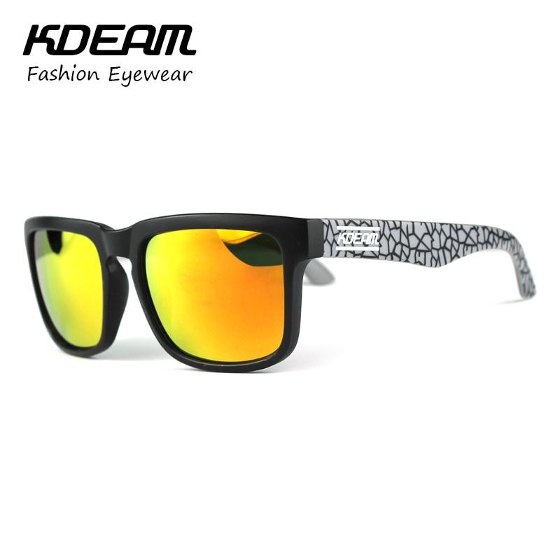 84fd35fdb6 Kdeam polarizado gafas de sol de verano hombres revestimiento reflectante gafas  de sol cuadradas mujeres uv400 diseñador de la marca con el caso original  ...