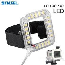 Новинка, аксессуары для Go pro, ночник, светодиодный светильник, крепление для Gopro Hero 4 3 + Корпус для объектива Go Pro Hero 3 + 4