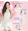 Новое поступление чистого тяжелого шелка леди V-образным вырезом кружева сексуальная ночная рубашка, 100% шелк с коротким рукавом вышивка спать платье