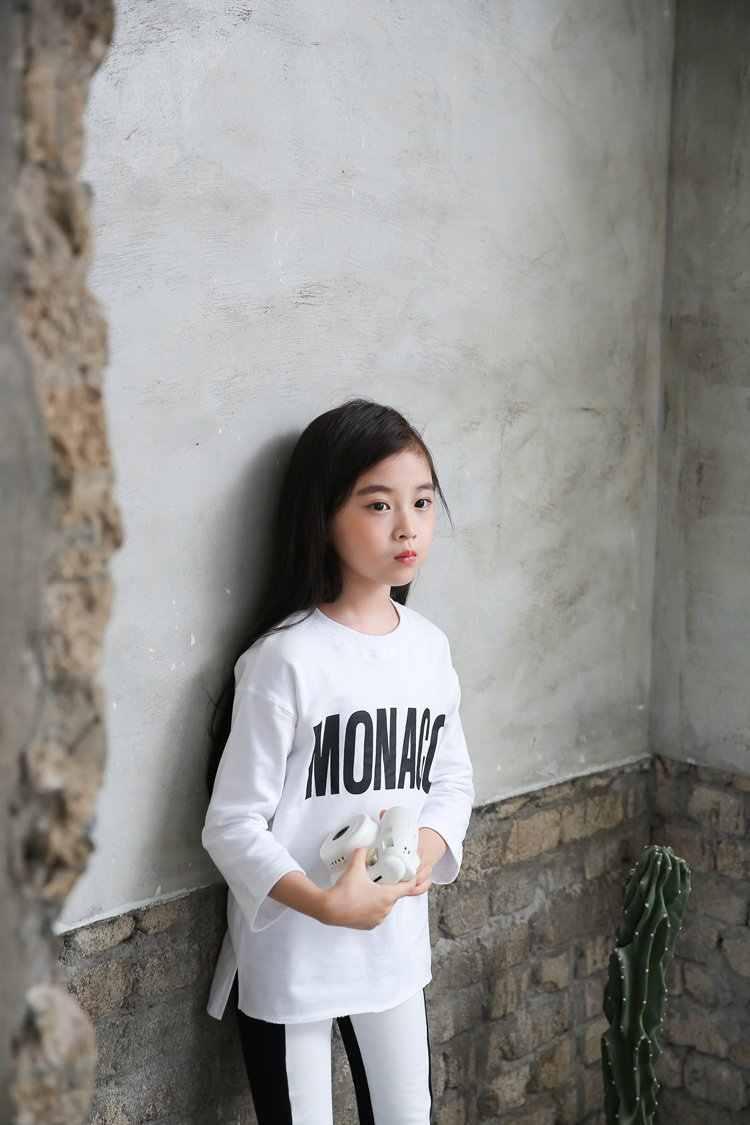 3-14 سنوات طفل فتاة الربيع تي شيرت جوفي الكرتون تي شيرت للأطفال فتاة الكرتون قمم 100% القطن الاطفال الخريف الملابس
