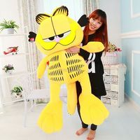 Fancytrader 49'' / 125cm Super Funny Big Stuffed Soft Plush Lovely Giant Garfield Cat Toy, Great Gift, Free Shipping FT50713