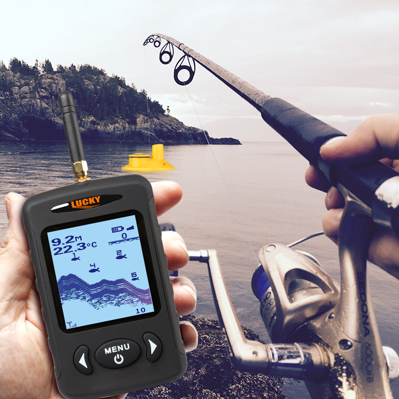 Image 2 - LUCKY FFW718 and FFW718LA Wireless Portable Fish Finder 45M/135FT Sonar Depth Sounder Alarm Ocean River Lake-in Fish Finders from Sports & Entertainment