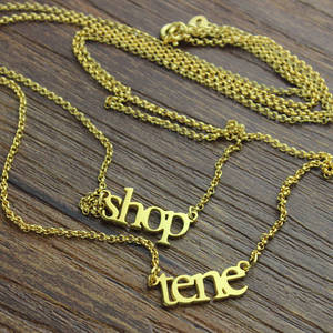 Image 5 - Ailin Groothandel 18K Plated Gold Sterling Zilver 925 Aangepaste Naam Ketting Dubbele Ketting Ketting Kerst Moeder Sieraden Geschenken