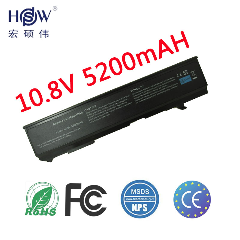HSW rechargeable batterie pour TOSHIBA Satellite A80 A85 A100 A105 A110 A135 M45 M50 M55 M70 M105-S10xx M115 PA3457U-1BRS PABAS067